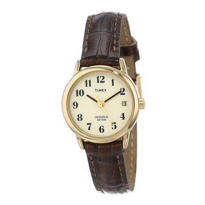 Đồng hồ Timex Women's T20071 Easy Reader Brown Leather