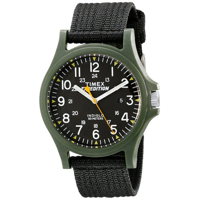 Timex Men's Expedition Acadia Watch with Black Nylon Band