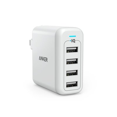 Anker PowerPort 4 (40W 4-Port USB Wall Charger) - TRẮNG