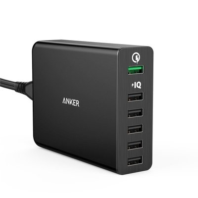 Sạc Anker 6 cổng Anker PowerPort+ 6 with Quick Charge 2.0 - ĐEN