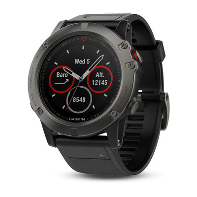 Garmin Fenix 5X Sapphire - 51mm Slate Gray with Black Band