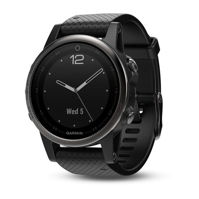 Garmin Fenix 5S Sapphire - 42mm Black with Black Band
