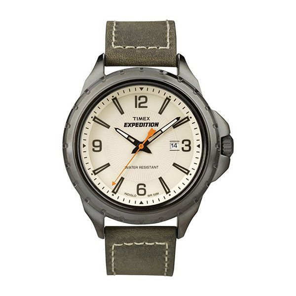 Timex Men's T49909 Expedition Rugged Field Watch with Leather Band