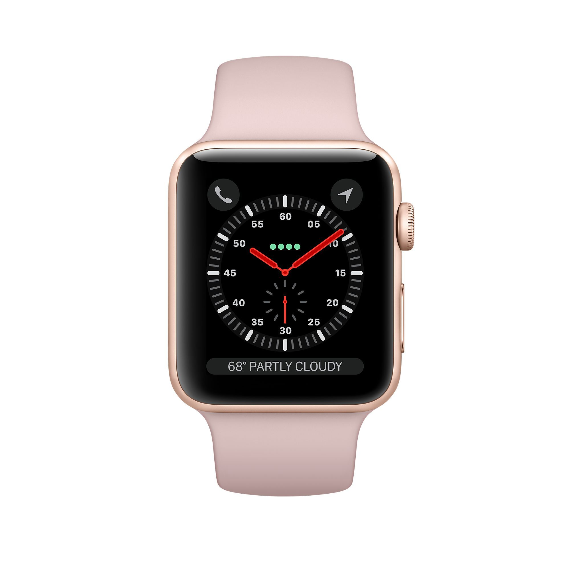 Apple Watch Series 3 GPS 42mm, Gold Aluminum - Pink Sand Sport Band