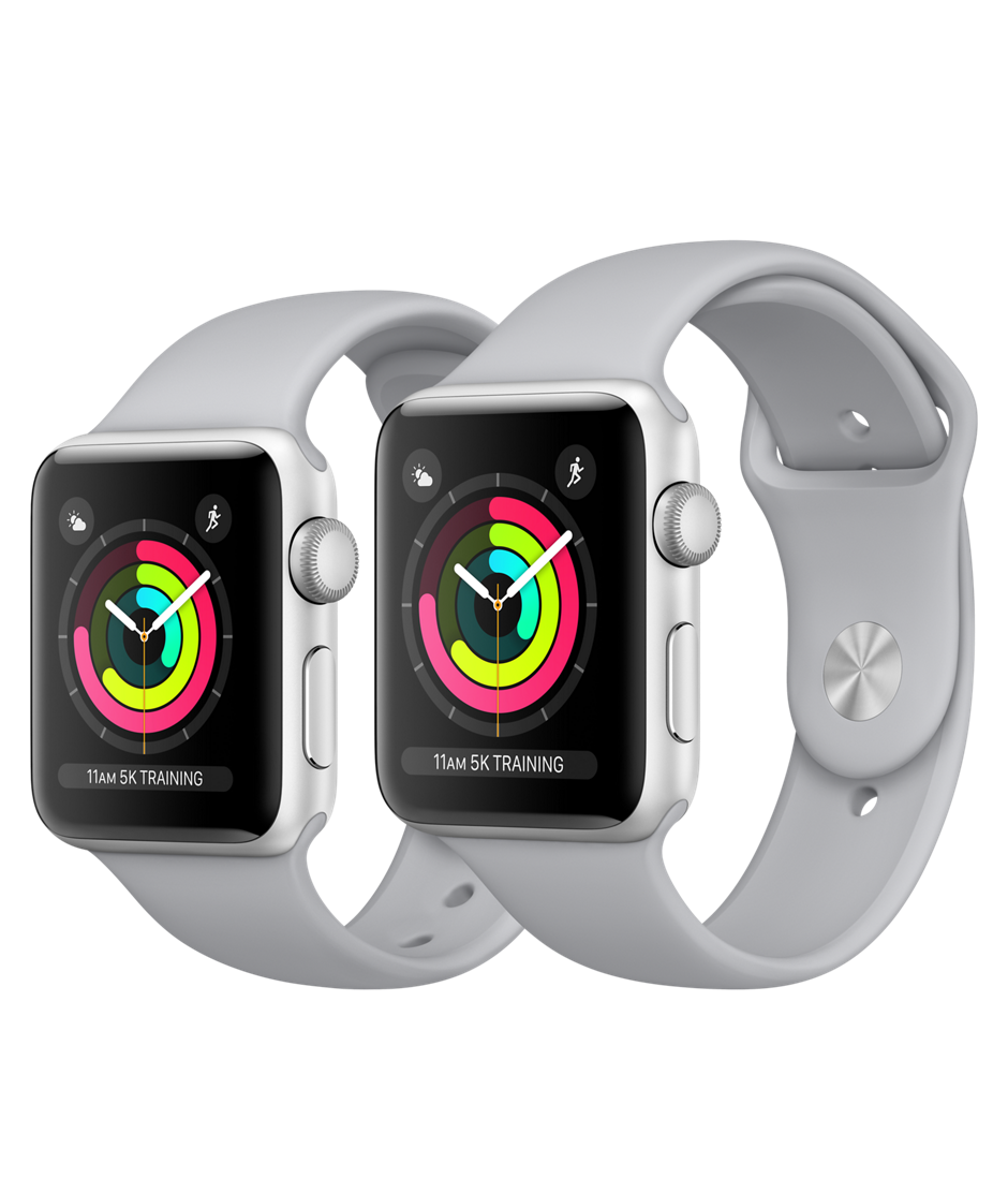 Apple Watch Series 3 GPS 42mm, Silver Aluminum - Fog Sport Band