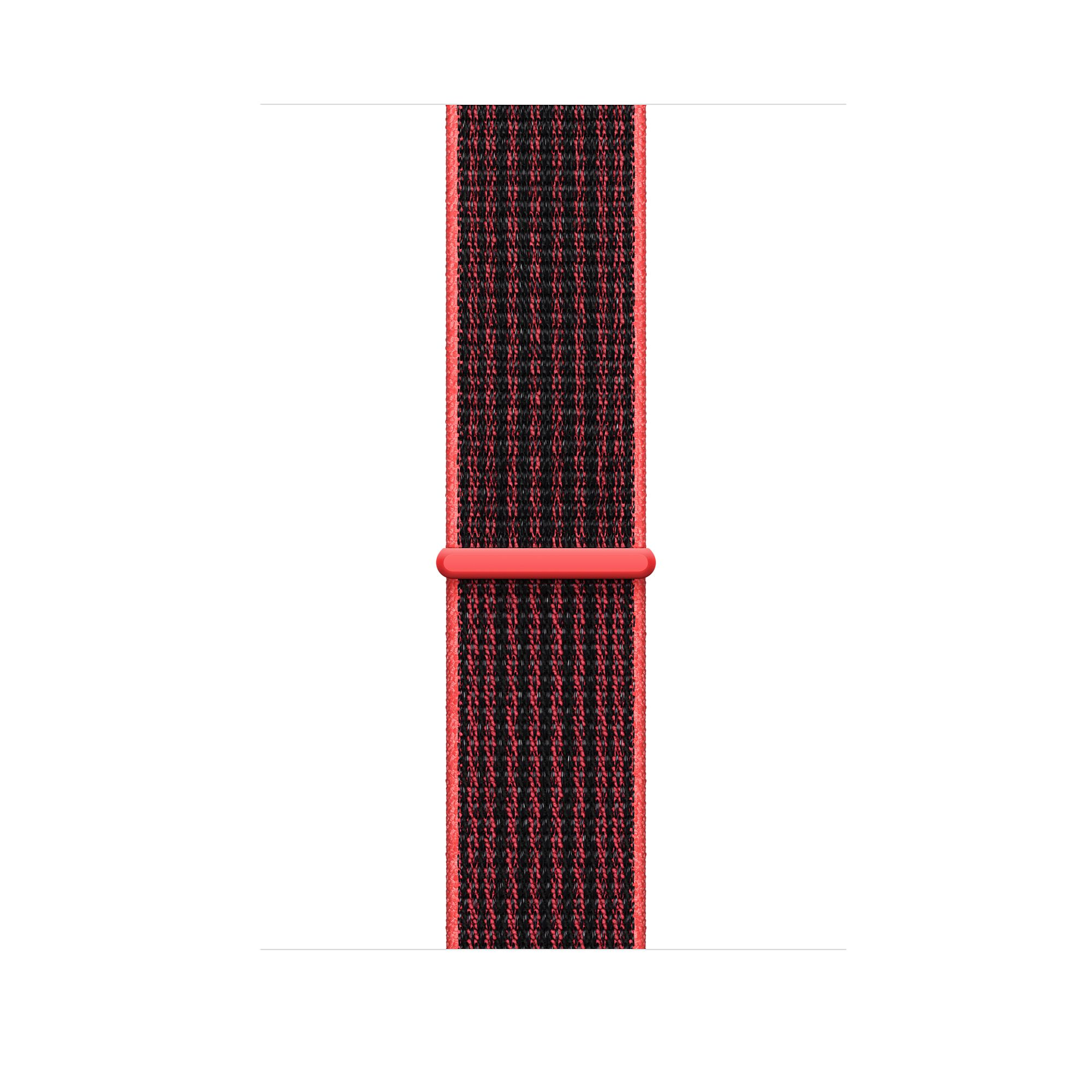 Apple Watch Nike+ GPS + Cellular Series 3, 42mm Silver Aluminum - Bright Crimson/Black Nike Sport Loop
