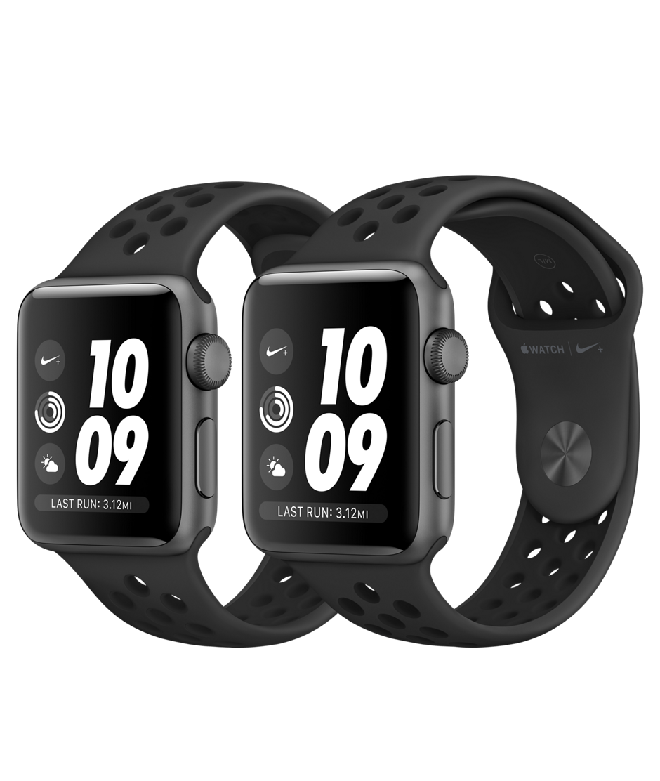 Apple Watch Nike+ GPS Series 3, 38mm Space Gray Aluminum - Anthracite/Black Nike Sport Band - Gray