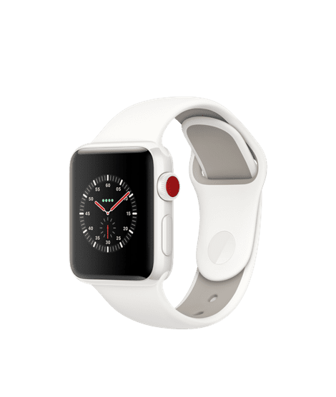 Apple Watch Edition Series 3 38mm Smartwatch (GPS + Cellular, White Ceramic Case ) - White
