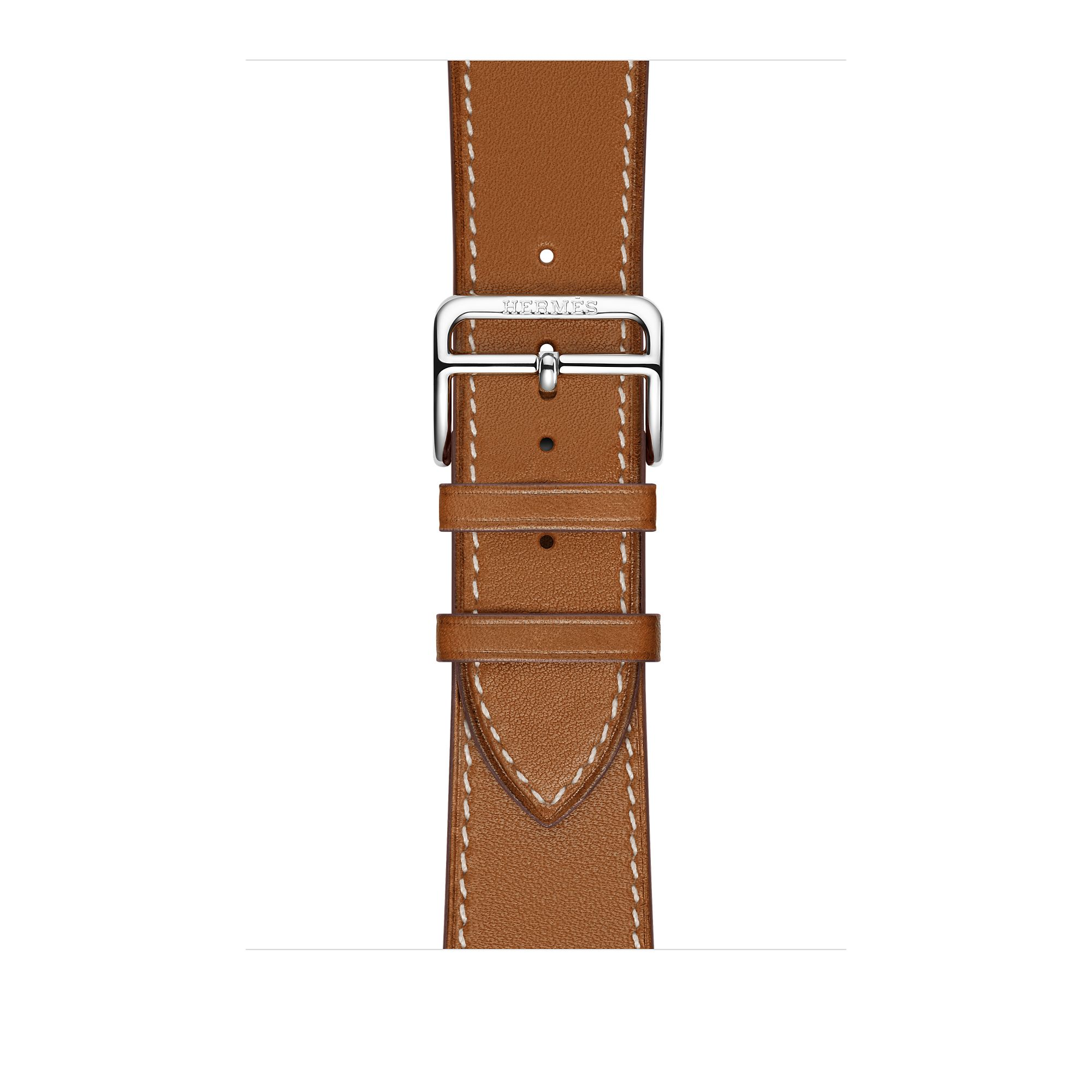 Apple Watch Hermès 42mm Stainless Steel Case with Fauve Barenia Leather Single Tour