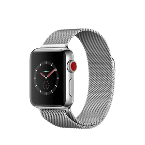 Apple Watch Series 3 GPS + Cellular 38mm, Stainless Steel Case with Milanese Loop