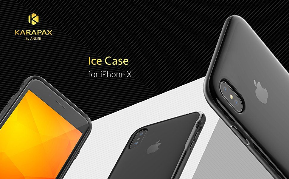 Ốp lưng Anker Karapax Ice for iPhone X - Black 1