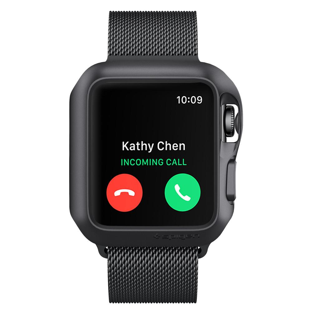Case bảo vệ SGP Apple Watch Series 3/2/1 (38mm) Slim Armor - Space Gray