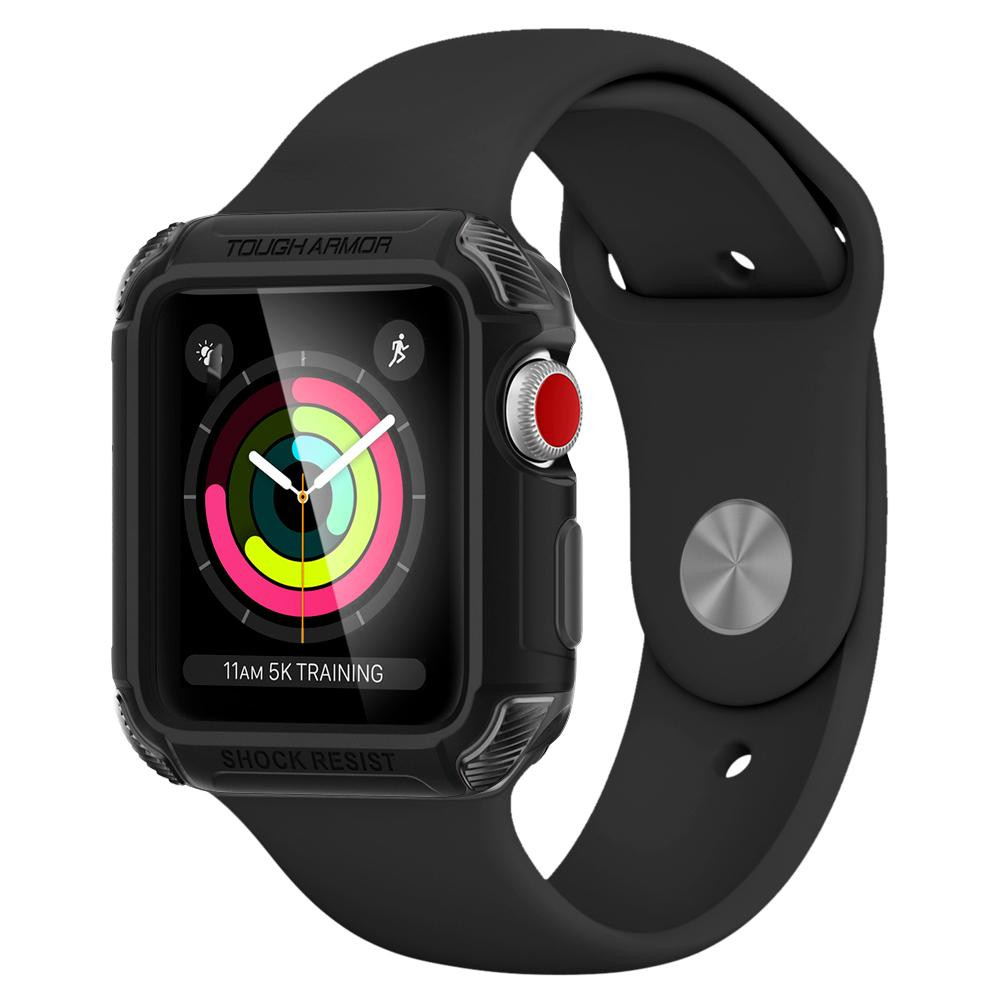 Ốp bảo vệ SGP Apple Watch Series 3 & 2 (38mm) Tough Armor 2 - Gunmental