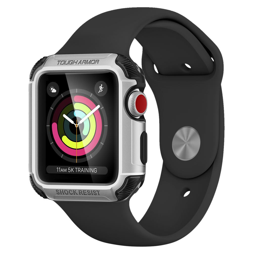 Ốp bảo vệ SGP Apple Watch Series 3 & 2 (38mm) Tough Armor 2 - Silver