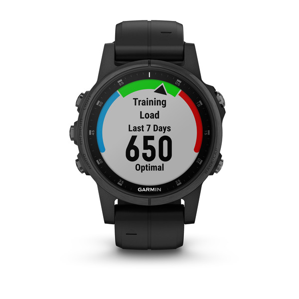 Garmin Fenix 5S Plus Sapphire 42mm, Black w/Black Band