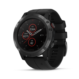 Garmin Fenix 5X Plus Sapphire 51mm, DLC Carbon Gray w/Black Band