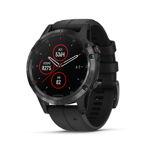 Garmin Fenix 5 Plus Sapphire 47mm, DLC Carbon Gray w/Black Band