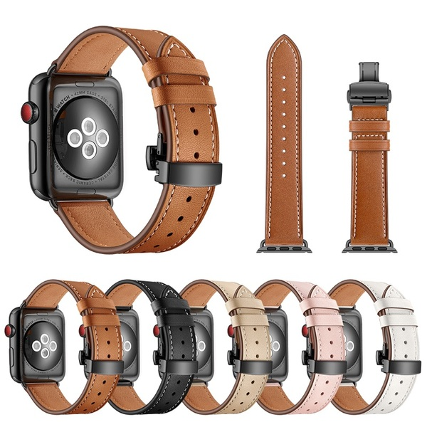 Dây da Deployment Clasp Apple Watch 42/44mm