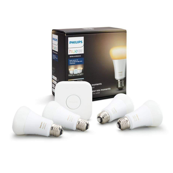 Bộ đèn Philips Hue White Ambiance Smart Bulb Starter Kit (4 x A19 Bulbs + 1 Hub)
