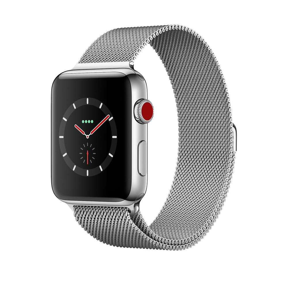 Apple Watch Series 3 GPS + Cellular 42mm, Stainless Steel Case with Milanese Loop, mới 99%
