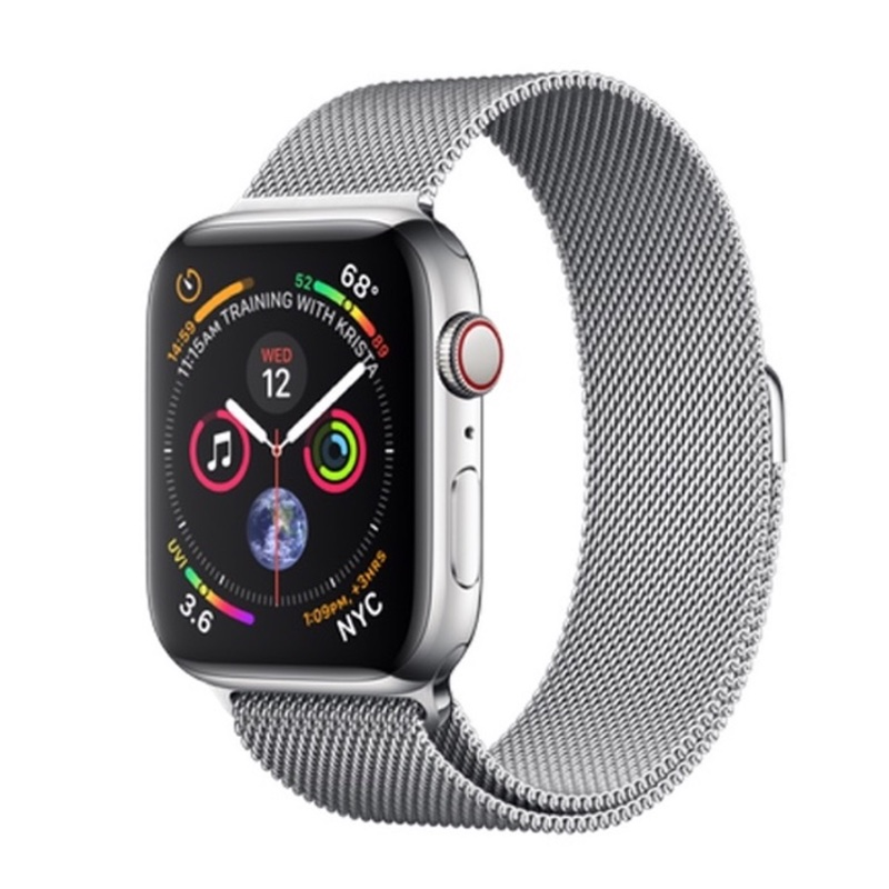 Apple Watch Series 4 GPS + Cellular 40mm, Stainless Steel - Milanese Loop