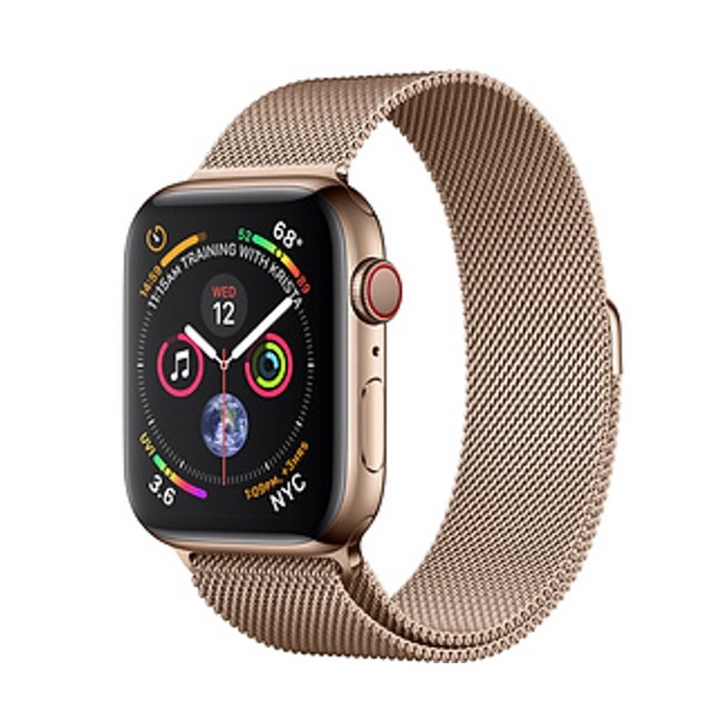 Apple Watch Series 4 GPS + Cellular 40mm, Gold Stainless Steel - Gold Milanese Loop