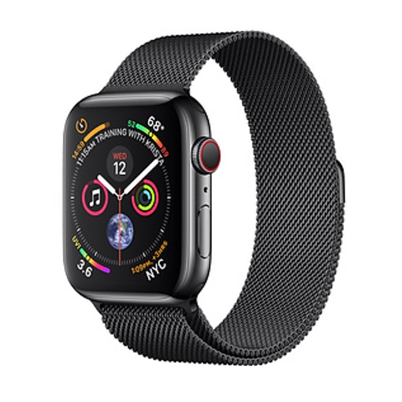 Apple Watch Series 4 GPS + Cellular 40mm, Space Black Stainless Steel - Milanese Loop