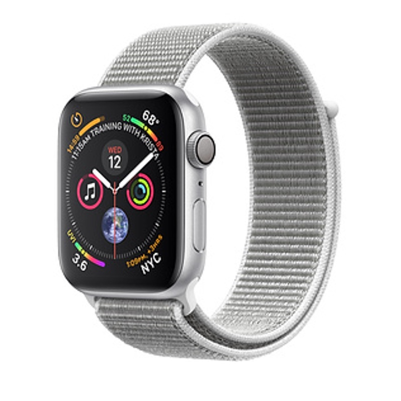 Apple Watch Series 4 GPS 40mm, Silver Aluminum - Seashell Sport Loop