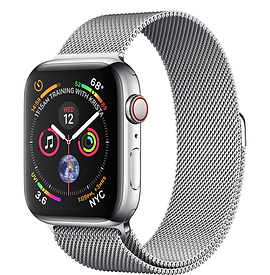 Apple Watch Series 4 GPS + Cellular 44mm, Stainless Steel - Milanese Loop