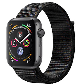 Apple Watch Series 4 GPS 44mm, Space Gray Aluminum - Black Sport Loop