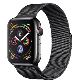 Apple Watch Series 4 GPS + Cellular 44mm, Space Black Stainless Steel - Milanese Loop