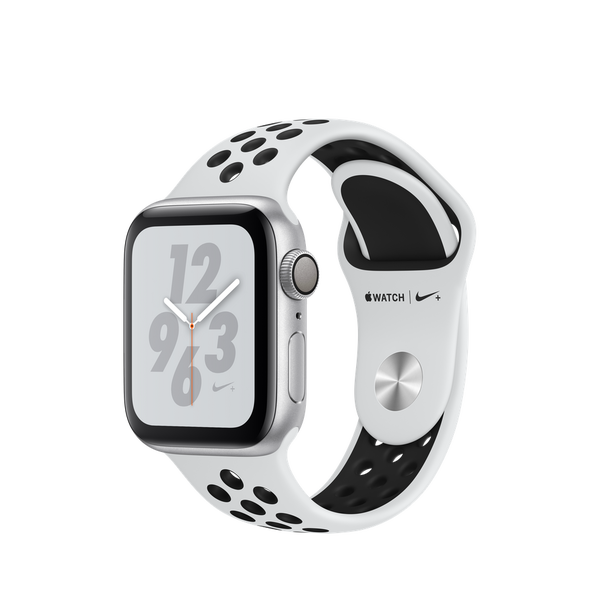 Apple Watch Nike + GPS Series 4 40mm Silver Aluminum Case with Pure Platinum/Black Nike Sport Band