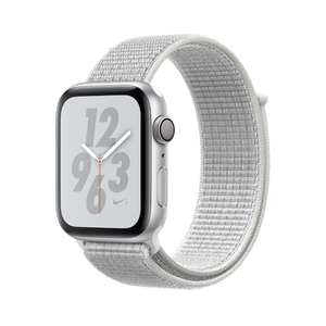 Apple Watch Nike + GPS Series 4 44mm Silver Aluminum Case with Summit White Nike Sport Loop