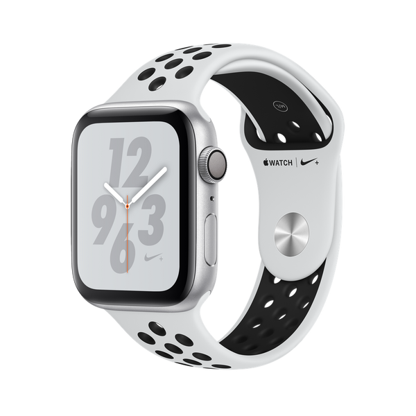 Apple Watch Nike + GPS Series 4 44mm Silver Aluminum Case with Pure Platinum/Black Nike Sport Band