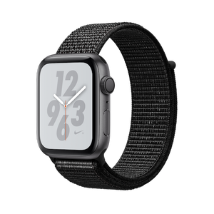 Apple Watch Nike + GPS Series 4 44mm Space Gray Aluminum Case with Black Nike Sport Loop