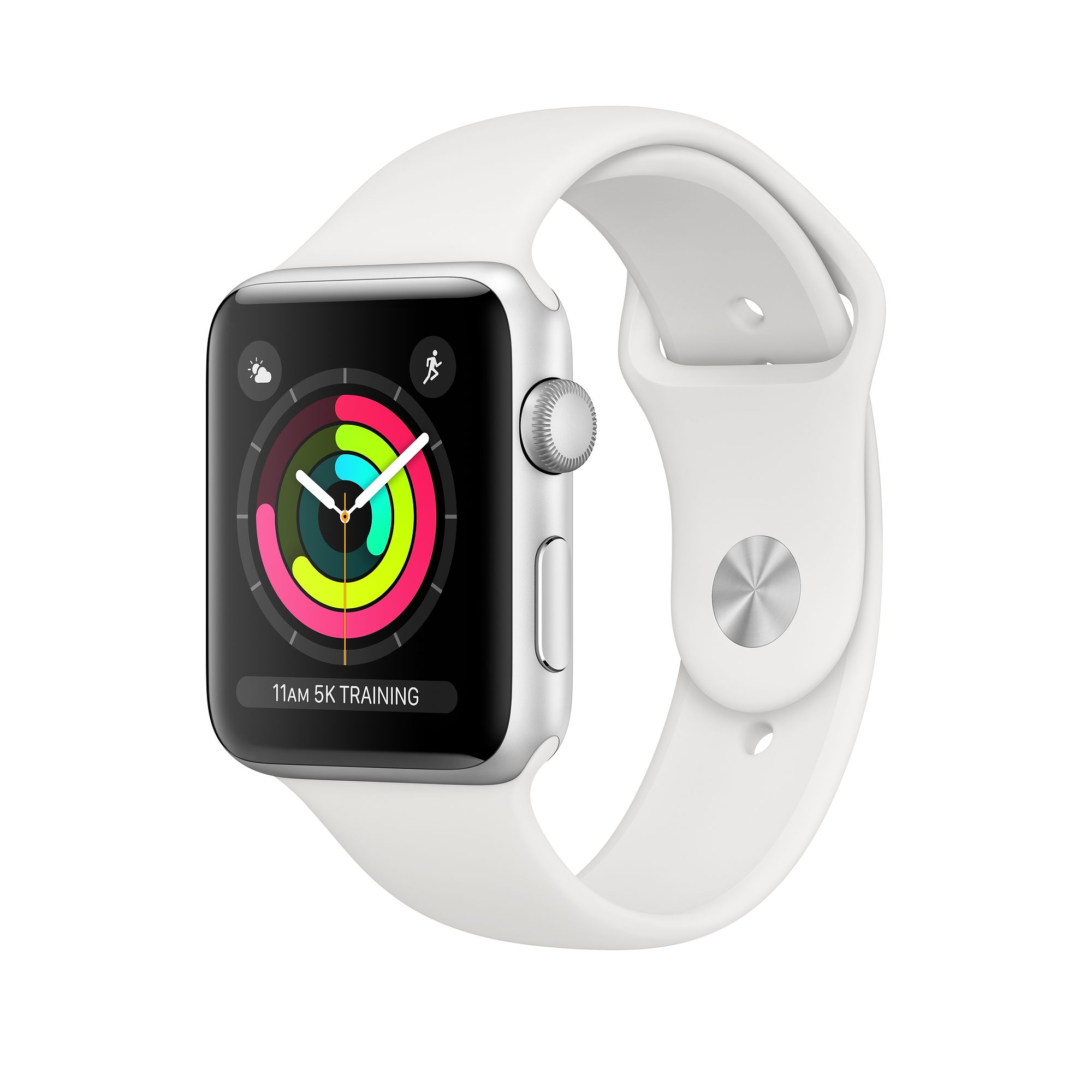 Apple Watch Series 3 GPS 42mm, Silver Aluminum - White Sport Band