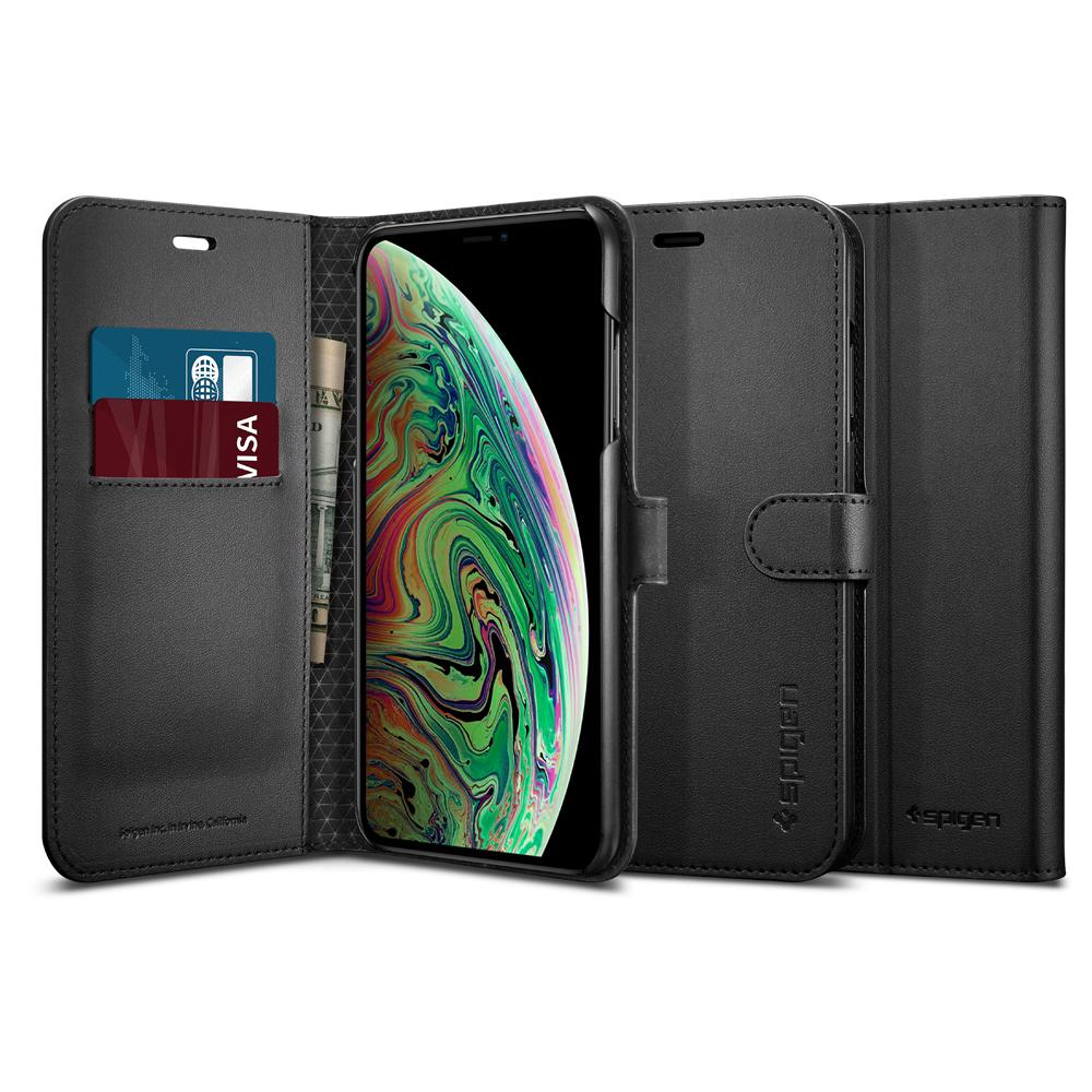 SGP iPhone XS Max Case Wallet S - Black