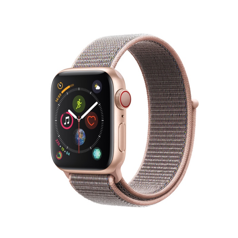 Apple Watch Series 3 38mm (GPS + Cellular, Gold Aluminum Case, Pink Sand Sport Loop)- Likenew