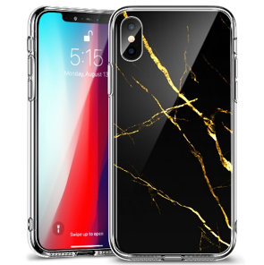 ỐP ESR MARBLE GLASS FOR IPHONE X- iPhone XS - Black