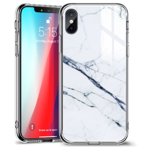 ỐP ESR MARBLE GLASS FOR IPHONE X- iPhone XS - White