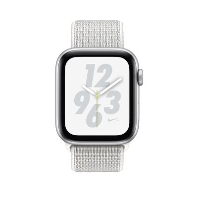 Apple Watch Nike + GPS Series 4 40mm Silver Aluminum Case with Summit White Nike Sport Loop