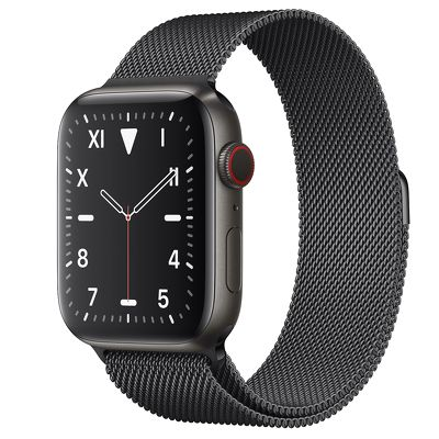 Apple Watch Edition 44mm Space Black Titanium with Milanese Loop 99%