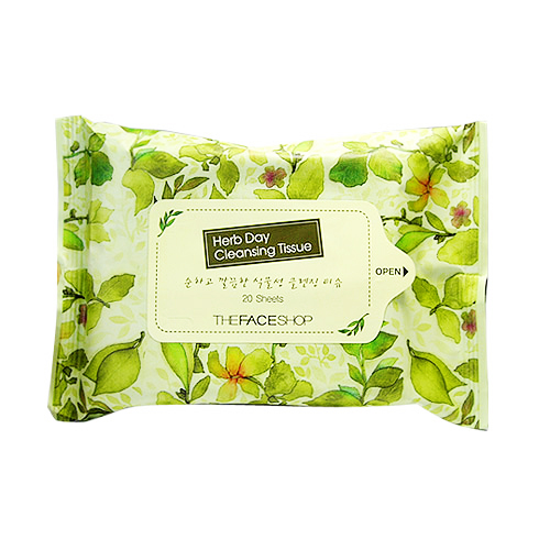 TFS Herbday Cleansing Tissue 20s