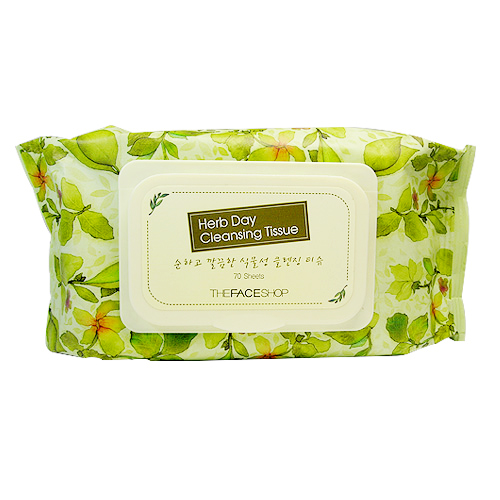 TFS Herbday Cleansing Tissue 70 Sheets