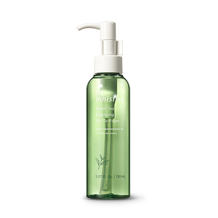 Innisfree Green Tea Cleansing Gel To Foam
