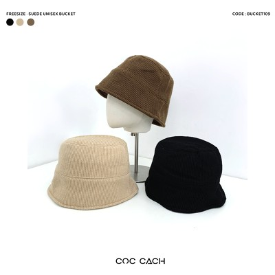 Mũ bucket suede basic Bucket109