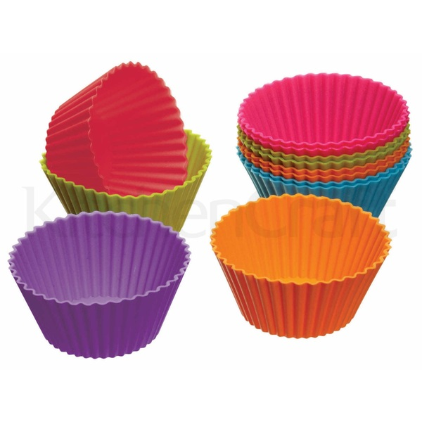 KITCHEN CRAFT, CWS, BỘ KHUÔN CUPCAKE, SILICONE, 12 CHIẾC