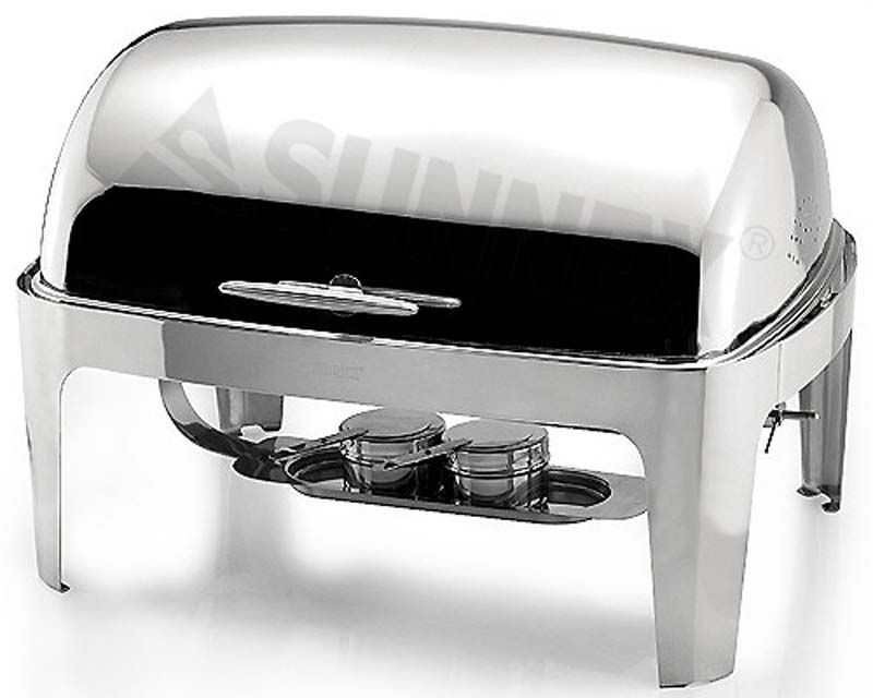 S/S F/SIZE ROLL-TOP CHAFING DISH 8.5 LIT, SUNNEX