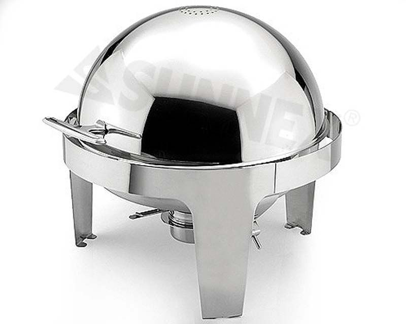 S/S RD ROLL-TOP CHAFING DISH 6.8 LIT, SUNNEX