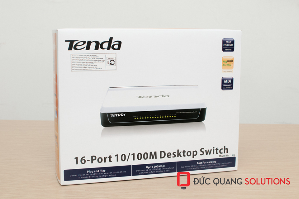 switch tenda 16 port s16